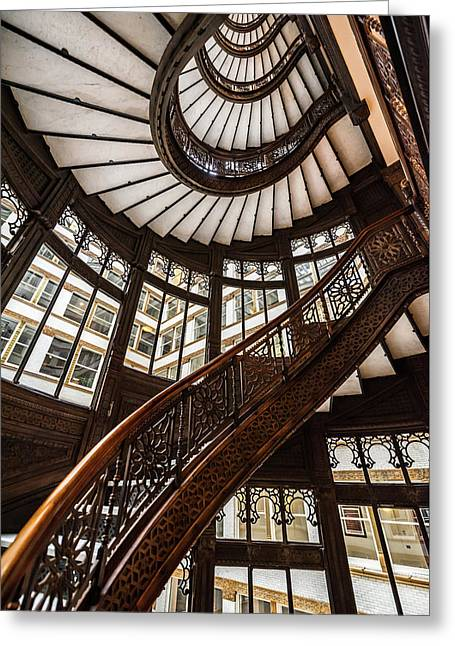 Up The Iconic Rookery Building Staircase Greeting Card