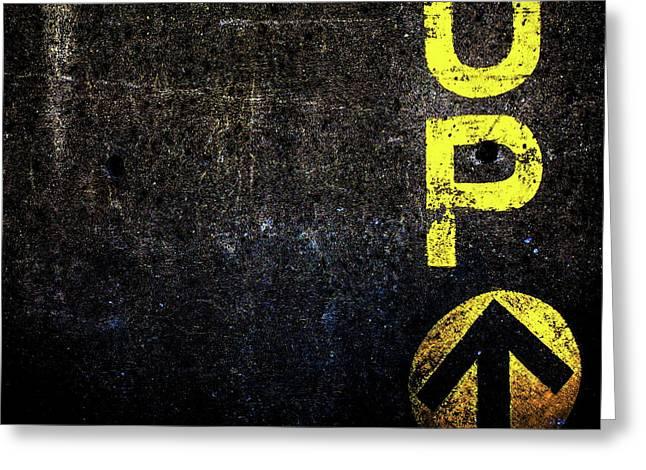 Up The Wall Greeting Card by Bob Orsillo