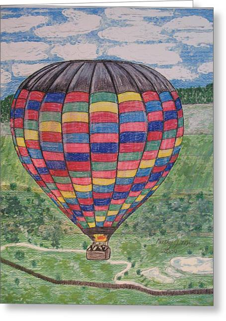 Greeting Card featuring the painting Up Up And Away by Kathy Marrs Chandler
