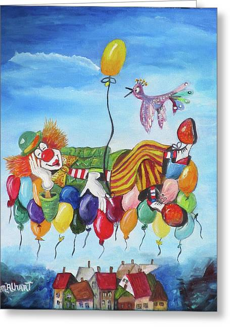 Up, Up And Away Greeting Card