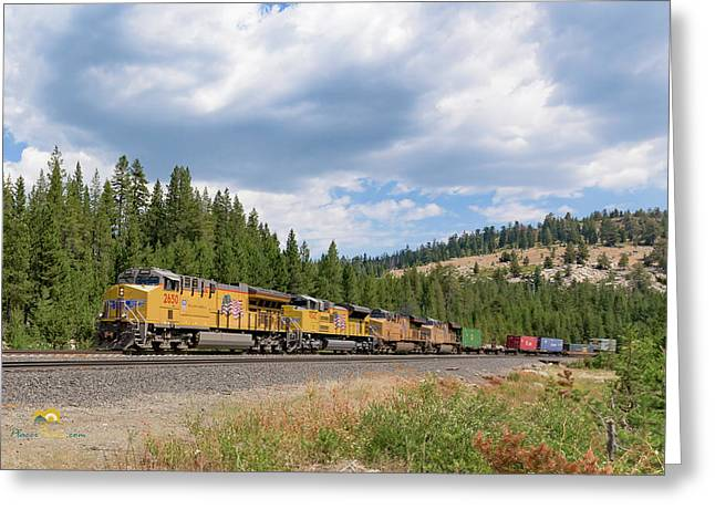 Up2650 Westbound From Donner Pass Greeting Card