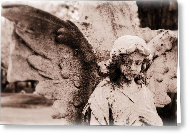 Upon Angel's Wings Greeting Card
