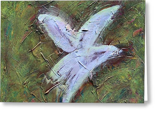 Upon Angels Wings Greeting Card