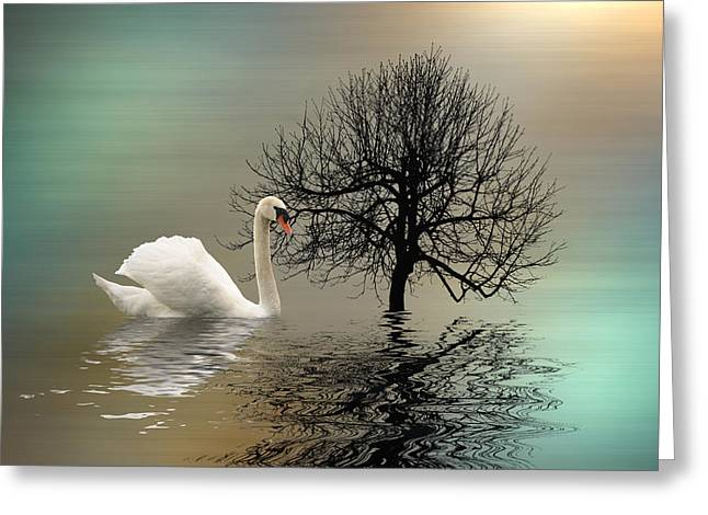Upon The Pond Greeting Card by Sharon Lisa Clarke