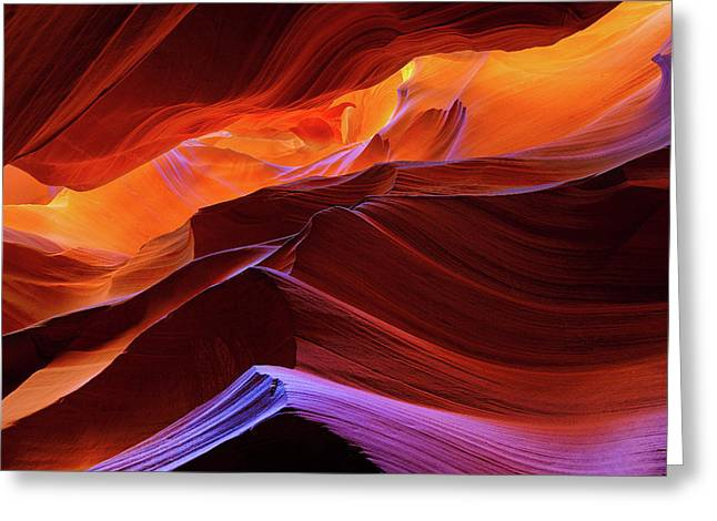 Upper Antelope Canyon Greeting Card