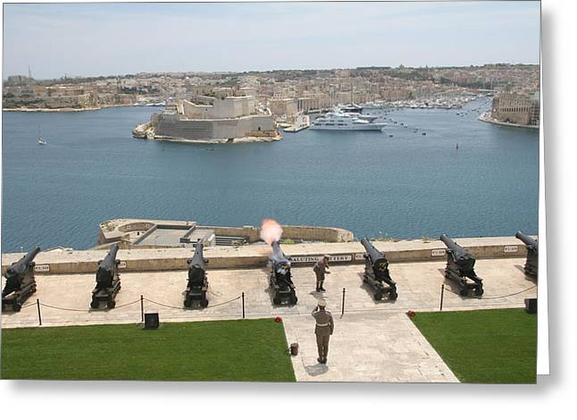 Upper Barrakka Saluting Battery Greeting Card