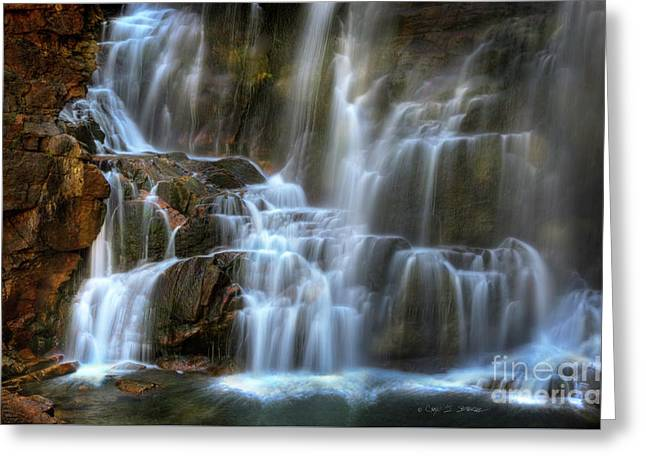 Upper Beartooth Falls Greeting Card by Craig J Satterlee