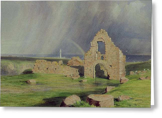 Upper Boddam Castle Greeting Card by James Giles