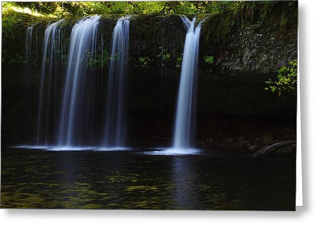 Upper Butte Creek Falls - Front Greeting Card