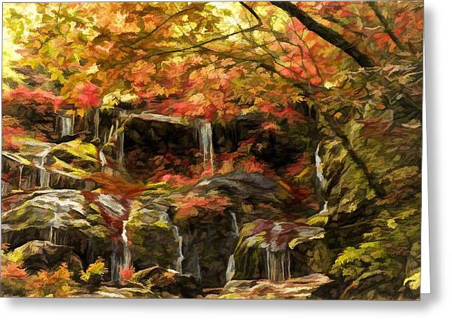Upper Catawba Falls North Carolina Greeting Card