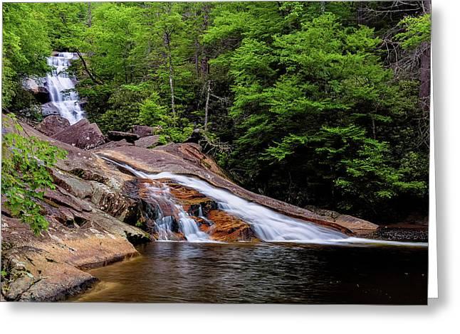 Upper Creek Falls Greeting Card by Jeremy Clinard