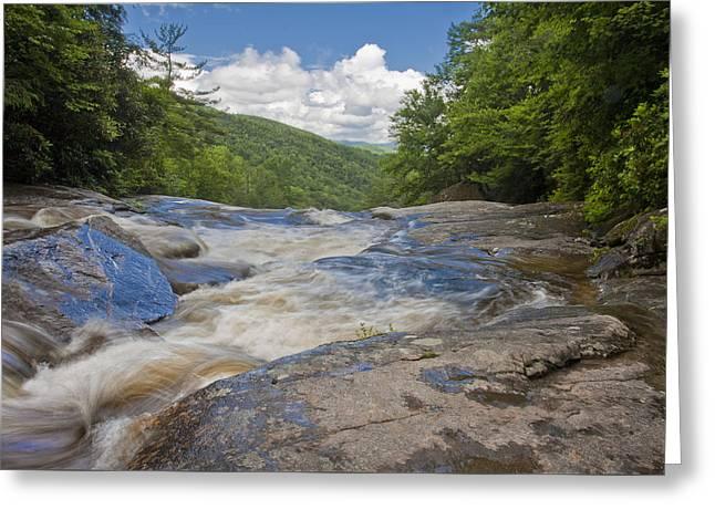 Greeting Card featuring the photograph Upper Creek Waterfalls by Ken Barrett
