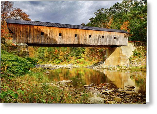 Upper Falls Covered Bridge Greeting Card