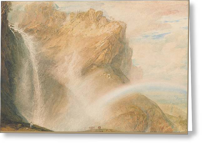 Upper Falls Of The Reichenbach Greeting Card