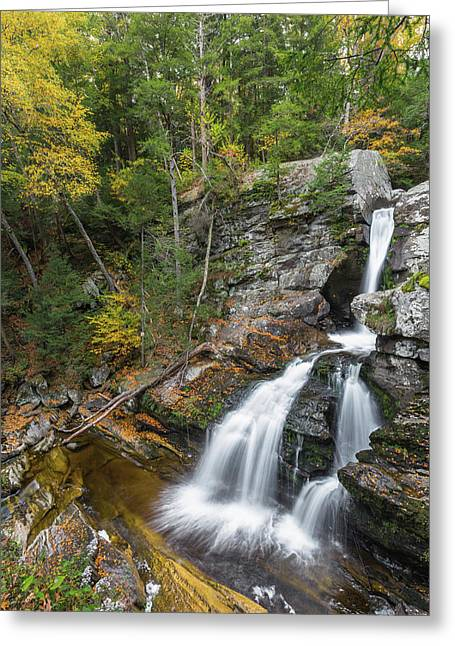 Upper Kent Falls Autumn Greeting Card by Bill Wakeley
