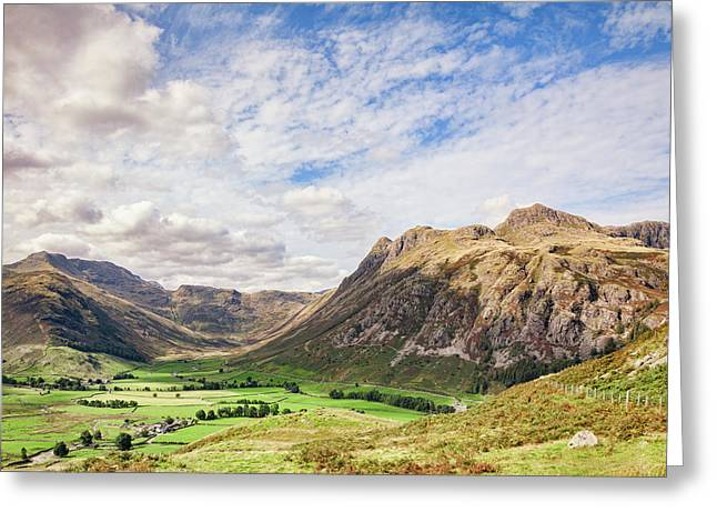 Upper Langdale, English Lake District Greeting Card by Colin and Linda McKie