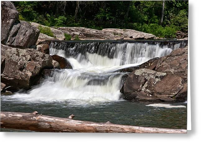 Upper Linville Falls Greeting Card by John Haldane