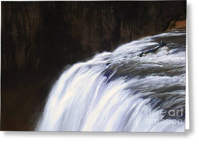 Upper Mesa Falls Greeting Card by Dennis Hammer