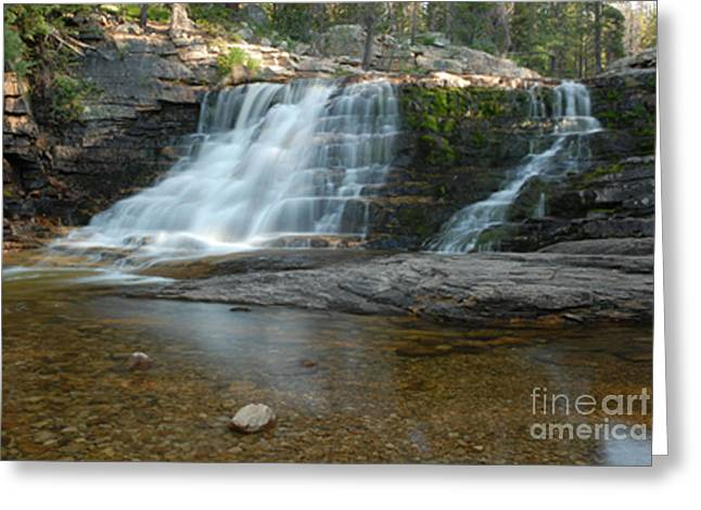 Upper Provo River Falls Greeting Card by Dennis Hammer