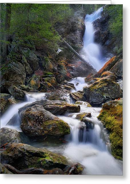 Greeting Card featuring the photograph Upper Race Brook Falls 2017 by Bill Wakeley