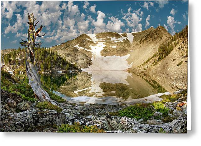 Upper Skytop Lake Greeting Card by Leland D Howard