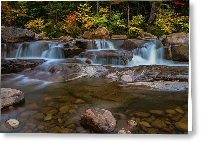 Upper Swift River Falls In White Mountains New Hampshire Greeting Card