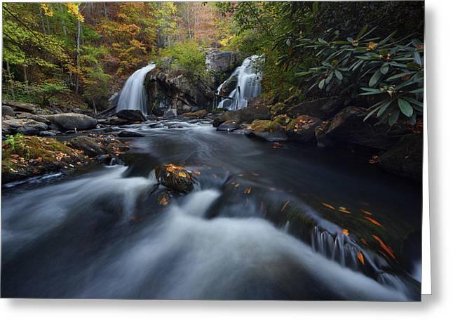 Upper Turtletown Falls Autumn Greeting Card