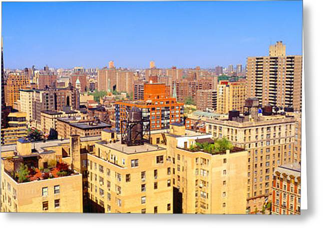 Upper West Side, Manhattan, New York+b3 Greeting Card by Panoramic Images