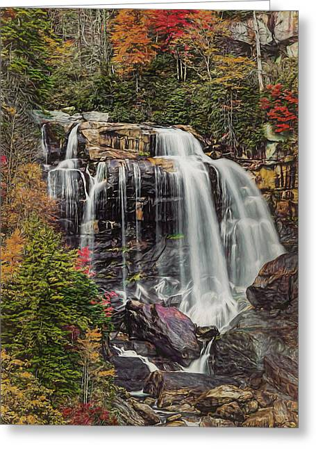 Greeting Card featuring the photograph Upper Whitewater Falls North Carolina by Bellesouth Studio