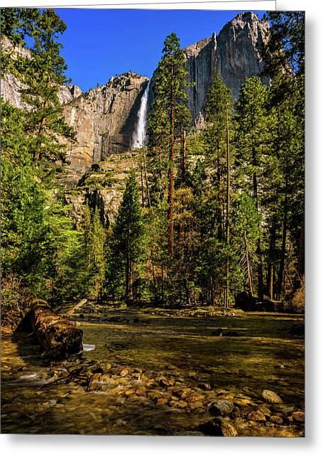 Upper Yosemite Falls From Yosemite Creek Greeting Card
