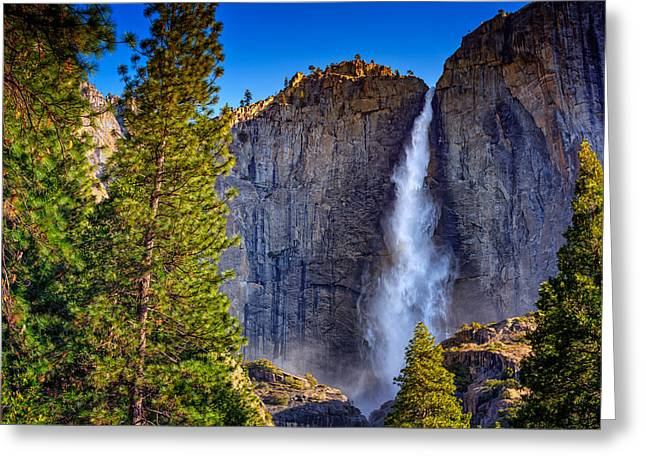 Upper Yosemite Falls Greeting Card by Rick Berk