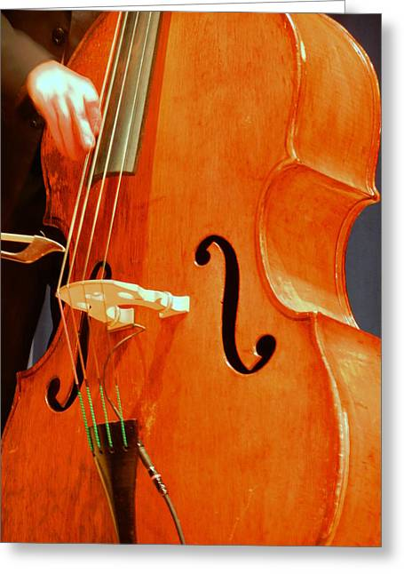 Upright Bass 3 Greeting Card