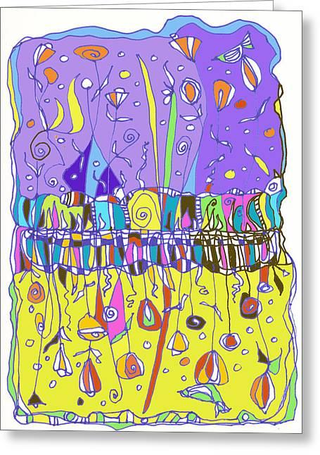 Upside Down Garden Greeting Card by Linda Kay Thomas