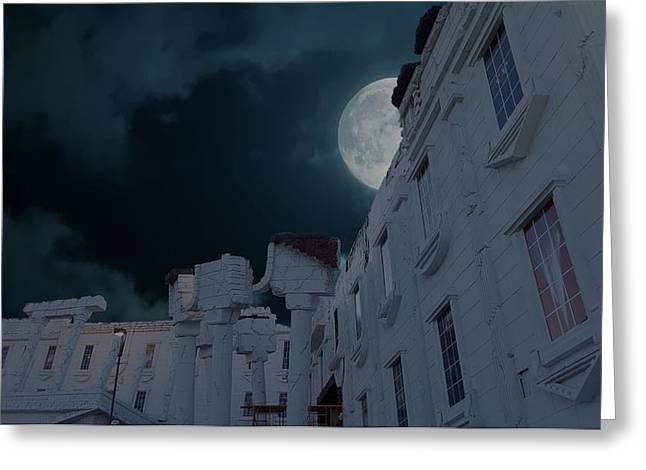 Upside Down White House At Night Greeting Card