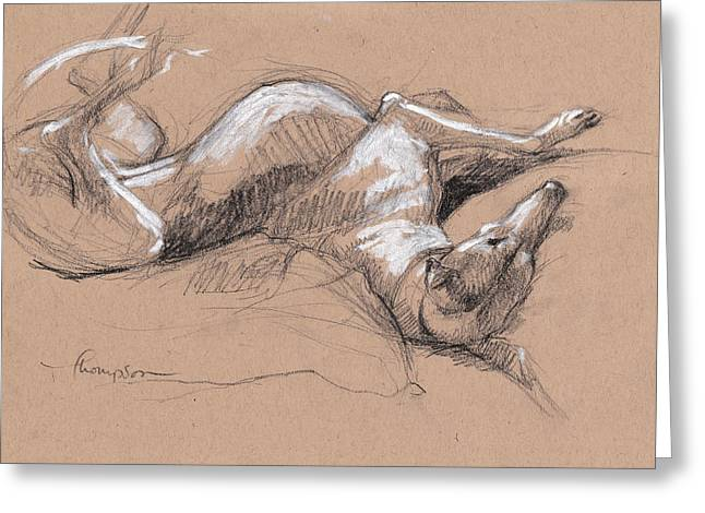Upside Hound 2 Greeting Card