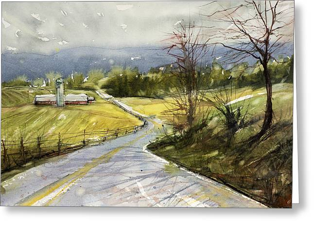 Upstate Landscape Greeting Card by Judith Levins