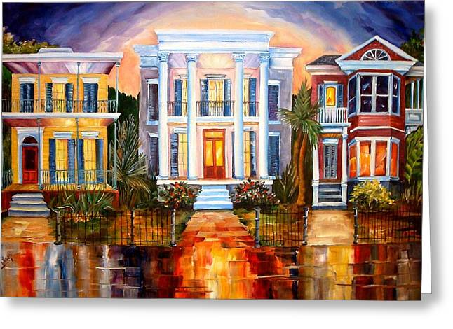 New Orleans Home Greeting Cards - Uptown Tonight Greeting Card by Diane Millsap