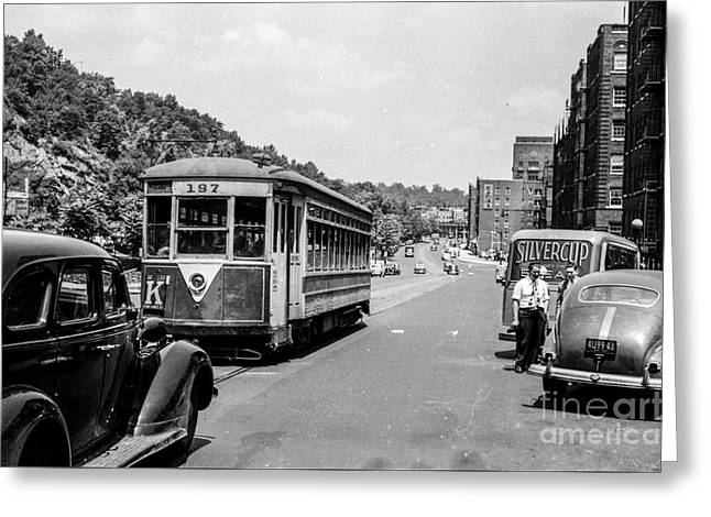 Greeting Card featuring the photograph Uptown Trolley Near 193rd Street by Cole Thompson