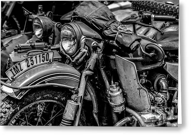 Greeting Card featuring the photograph Ural Patrol Bike by Anthony Citro