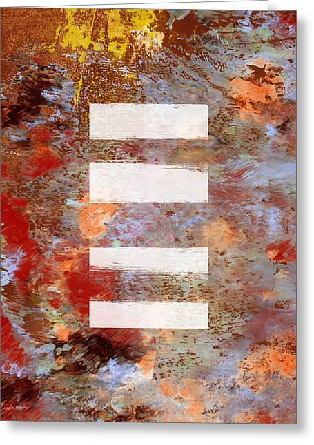 Urban Abstract- Art By Linda Woods Greeting Card