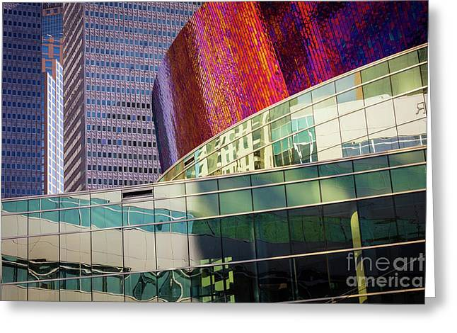 Urban Abstract Greeting Card by Inge Johnsson