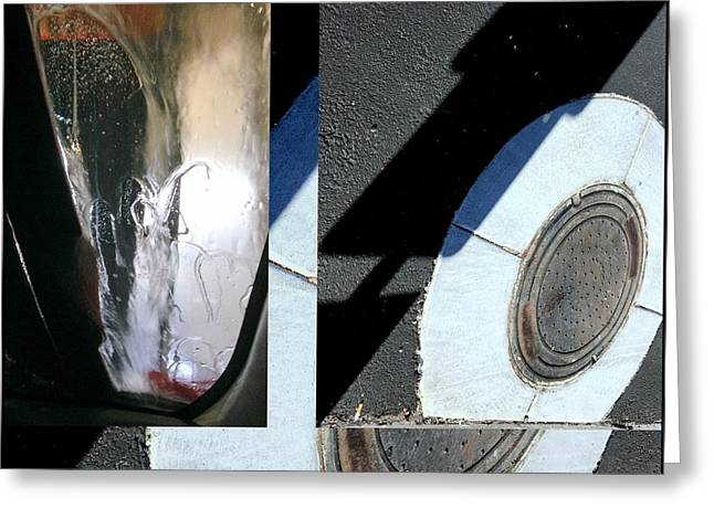 Urban Abstract Seeing Double 83 Greeting Card