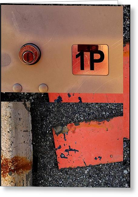 Urban Abstracts Seeing Double 55 Greeting Card