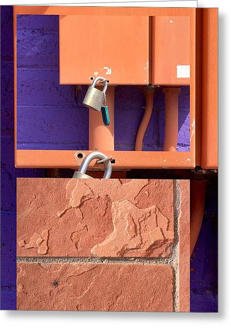 Urban Abstracts Seeing Double 77 Greeting Card