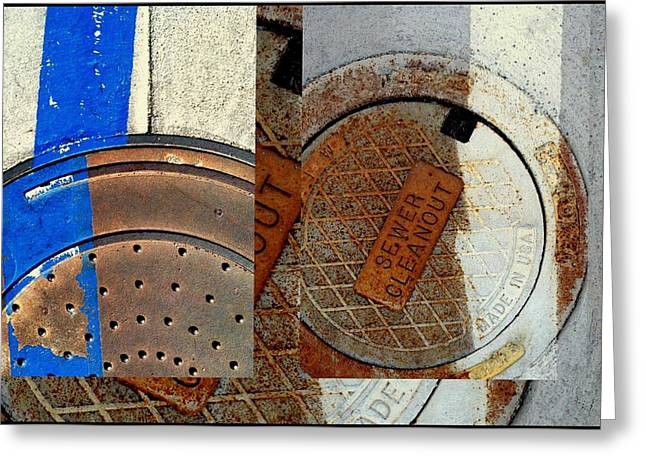 Urban Abstracts Seeing Double 84 Greeting Card