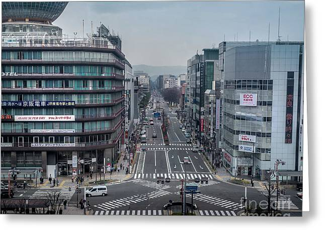 Urban Avenue, Kyoto Japan Greeting Card