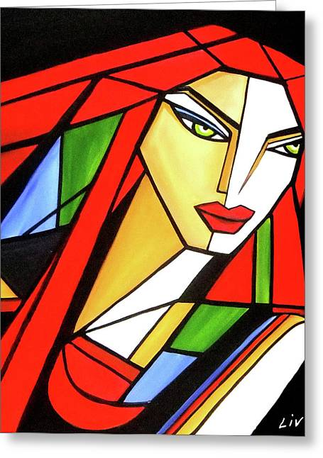 Urban Beauty Greeting Card by Louise Lacourse