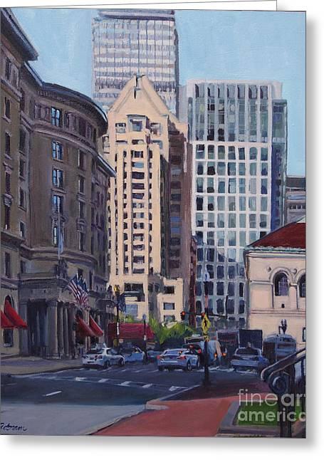 Urban Canyon - Saint James Street, Boston Greeting Card