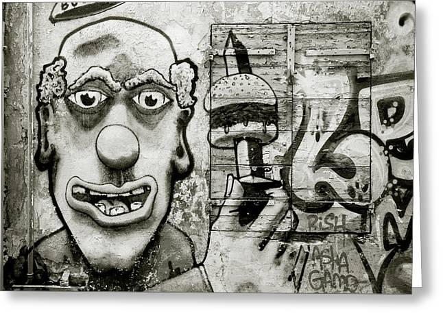 Urban Clown Greeting Card