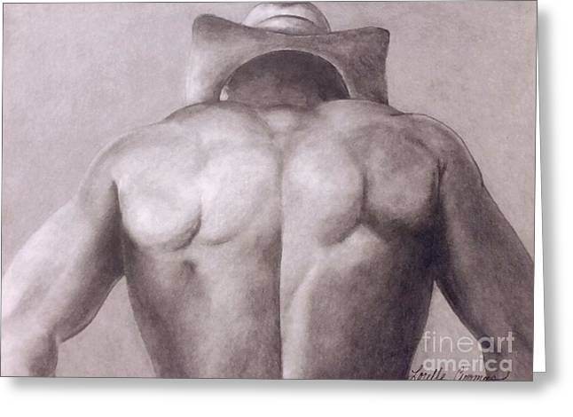 Urban Cowboy Greeting Card by Lorelle Gromus